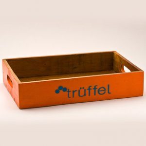 Holz Tablett Orange