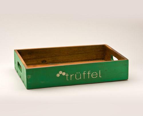 Holz Tablett in Grün